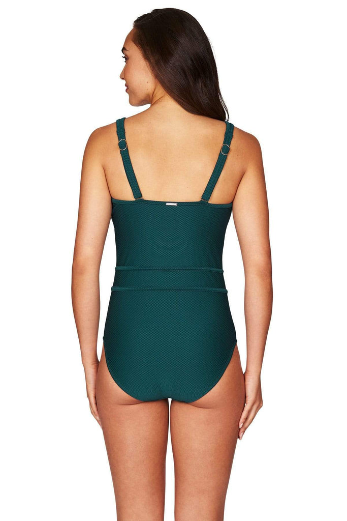 Amazing Lace Emerald Plunge One Piece <br> Final Sale