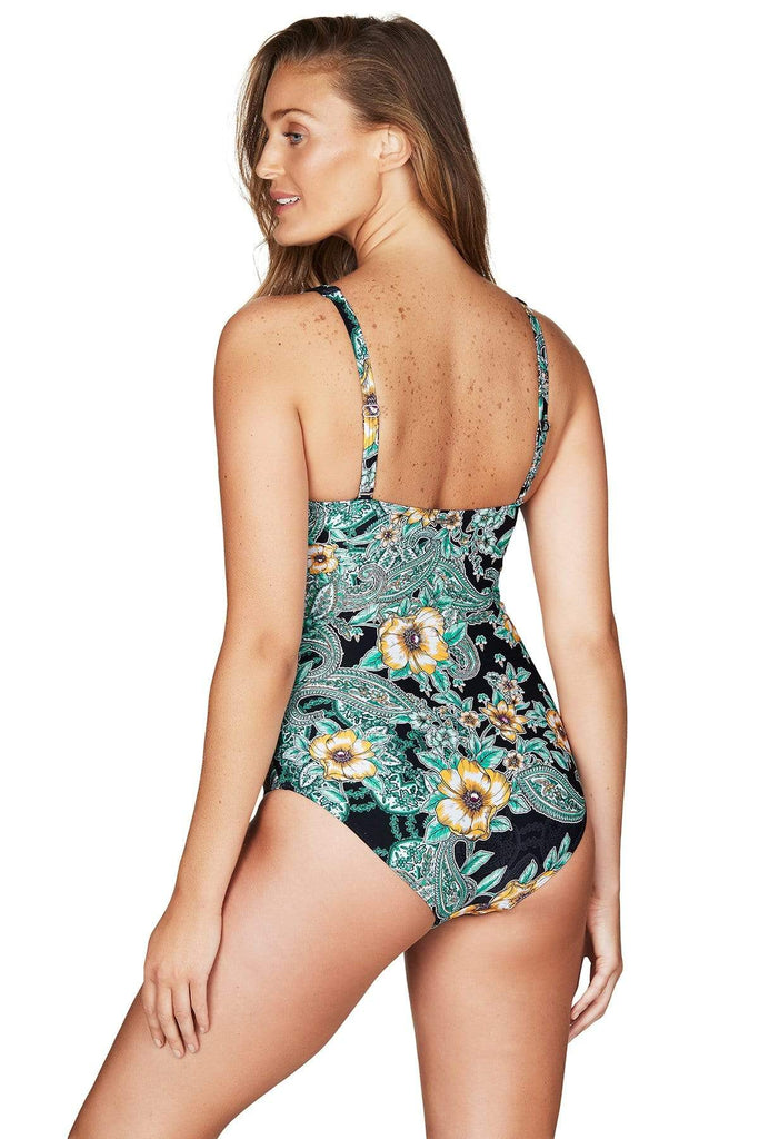 Marrakesh Black Cross Front Multifit One Piece <br> Final Sale
