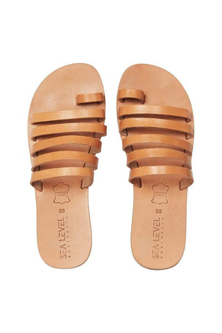 Tan Strappy Sandals <br> Final Sale