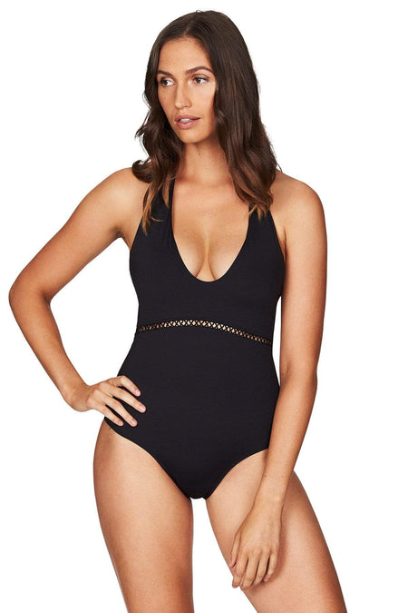 Lola Black Halter One Piece