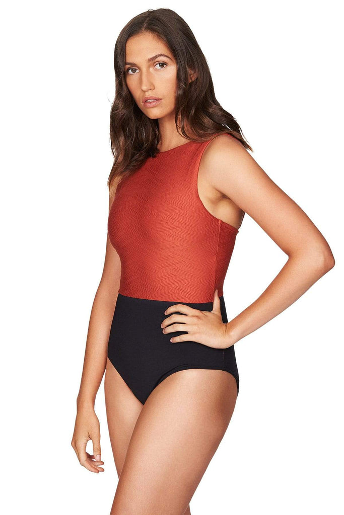 Majorca Tuscan Sun High Neck One Piece <br> Final Sale