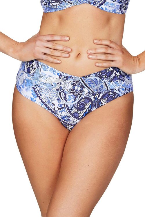 Taormina Night Sky Twist Band Mid Bikini Pant