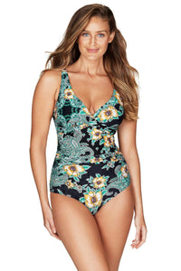 Marrakesh Black Cross Front Multifit One Piece