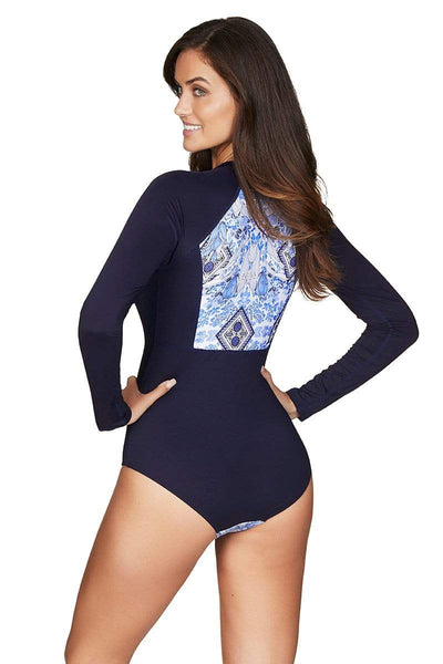 Taormina Night Sky Long Sleeved One Piece