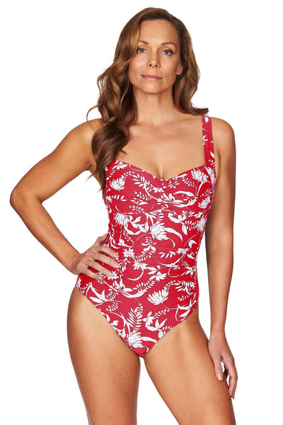 Maui Paprika Twist Front Multifit One Piece