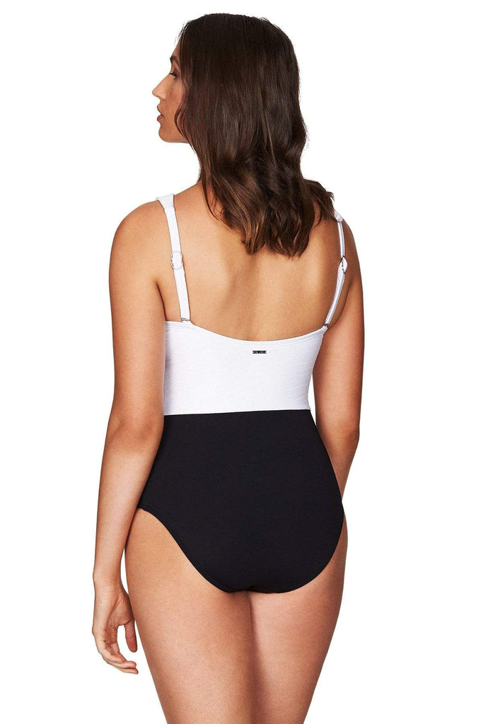 Majorca White High Neck One Piece <br> Final Sale