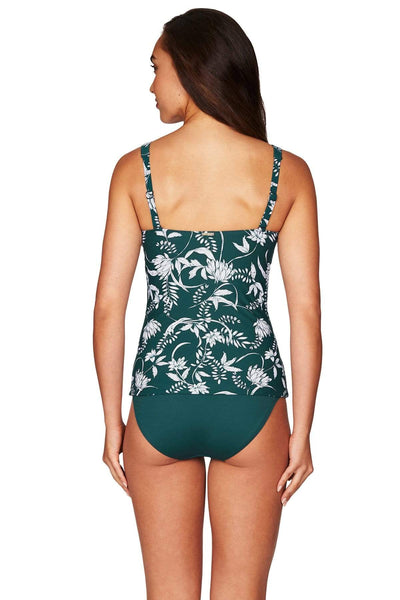 Maui Emerald Twist Front Singlet Top