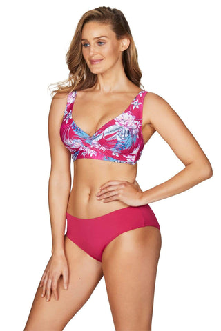 Bahamas Rose Cross Front Multifit Bra Top <br> Final Sale
