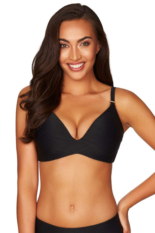 Black Majorca D Cup Bra Top