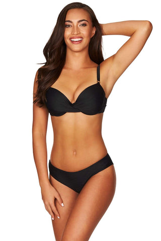 Majorca Black Twist Front Bra <br> Final Sale