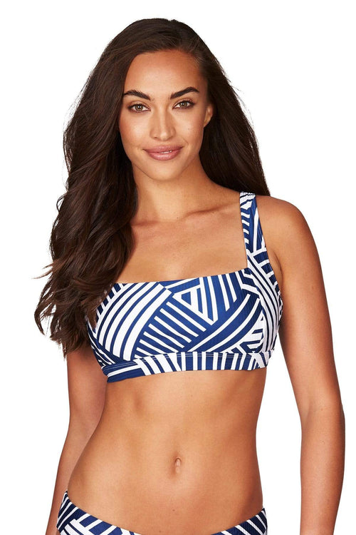 Ocean Blue Vionette Square Neck Bra