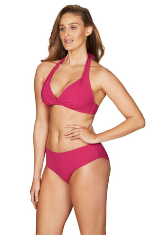 Riviera Rib Rose Multifit Halter Bra <br> Final Sale