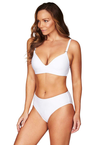 Majorca White D Cup Bra Top <br> Final Sale