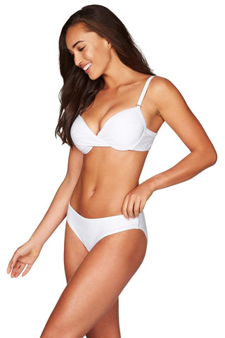 Majorca White Twist Front Bra <br> Final Sale