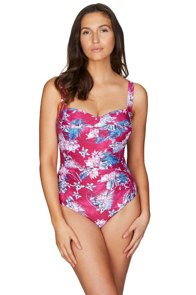 Bahamas Rose Twist Front Multifit One Piece