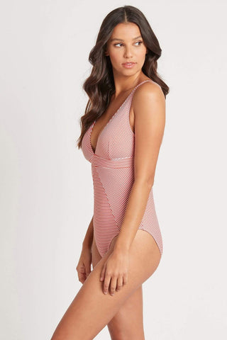 Positano Stripe Orange Panel Line Multifit One Piece