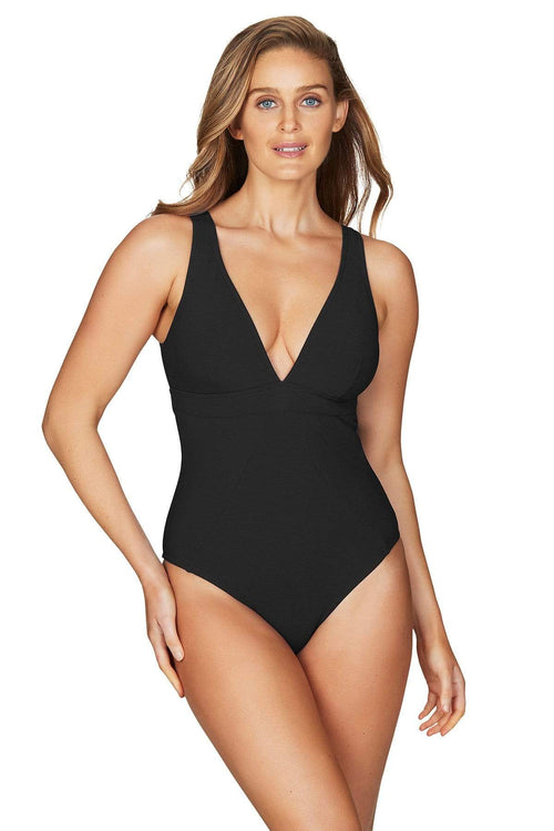 Riviera Rib Black Panel Line Multifit One Piece