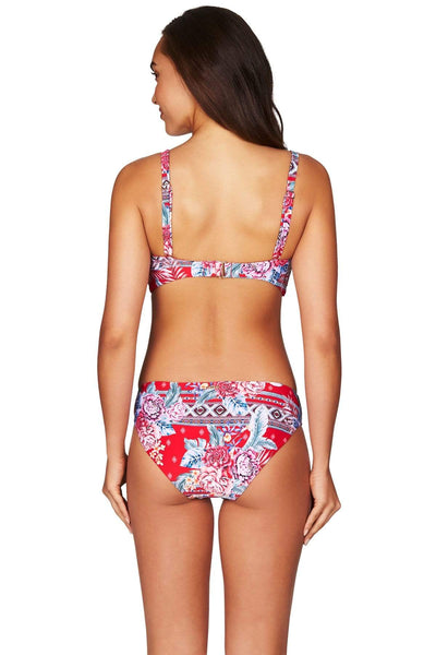 Red Aztec Rose Regular Bikini Pant