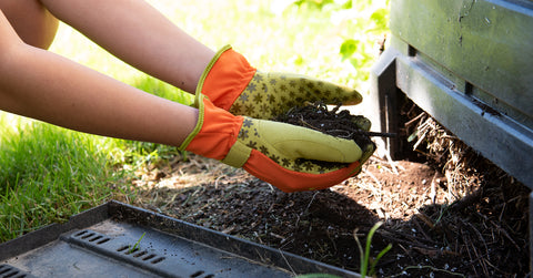 composting with Dig it Gloves