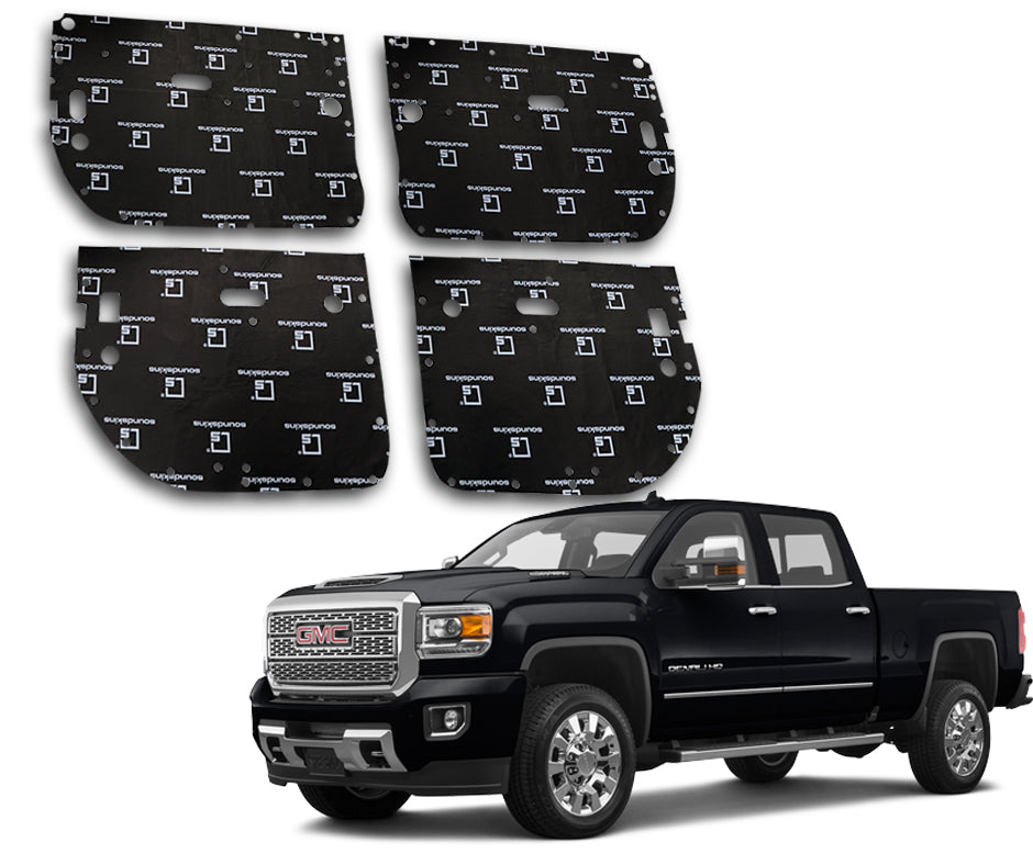 SoundSkins Pro GMC Sierra HD 4-Door Template Kit | 2014 to 2019