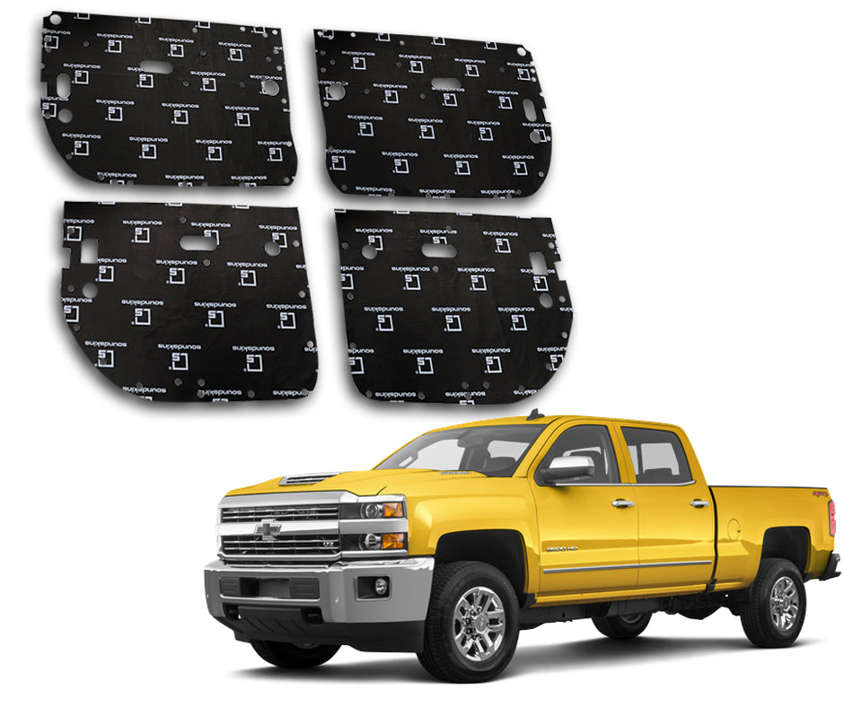 SoundSkins Pro Chevy Silverado HD 4-Door Template Kit | 2014 to 2019
