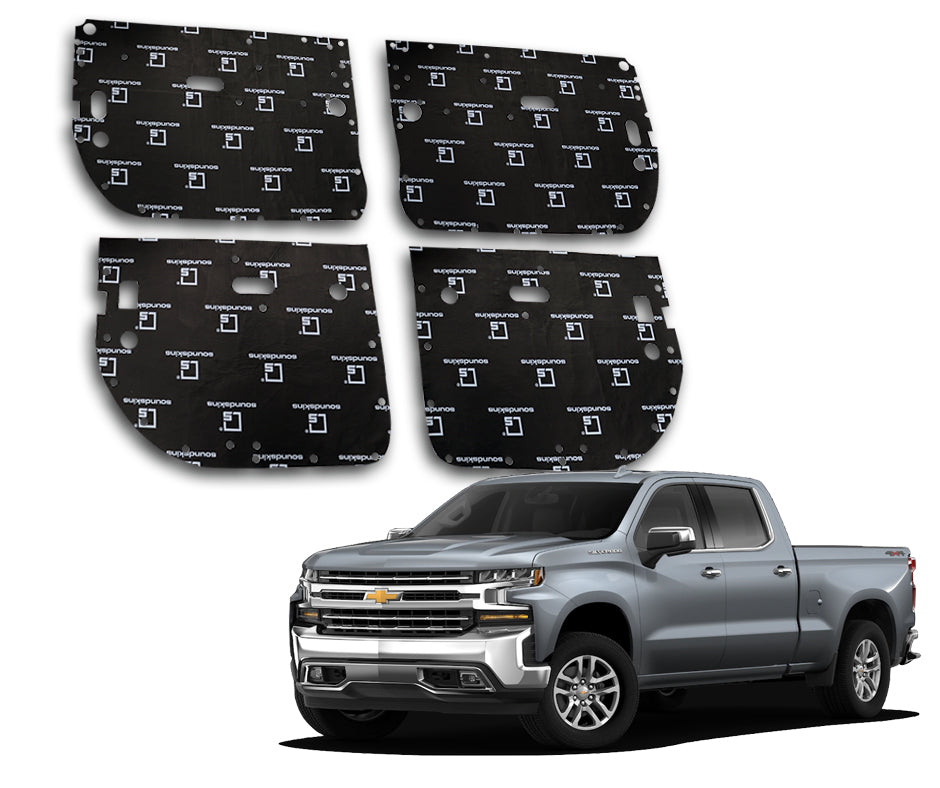 SoundSkins Pro Chevy Silverado 4-Door Template Kit | 2014 to 2018