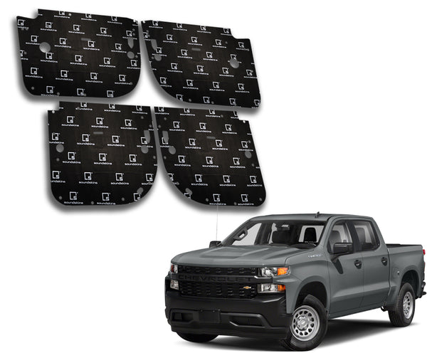SoundSkins Pro Chevy Silverado 4-Door Template Kit | 2019 to 2021
