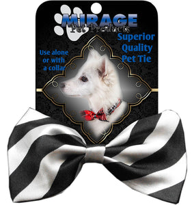 Dog Bow Tie Stripes White