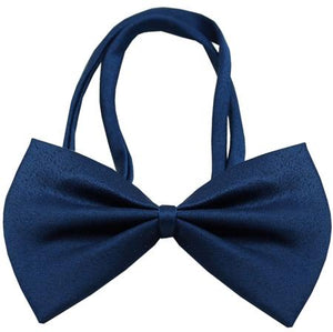 Plain Navy Blue Bow Tie