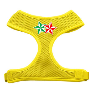 Double Holiday Star Screen Print Mesh Harness Yellow Extra Large