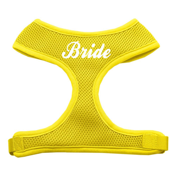 Bride Screen Print Soft Mesh Harness Yellow Large