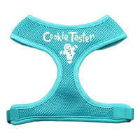 Cookie Taster Screen Print Soft Mesh Harness Aqua Large