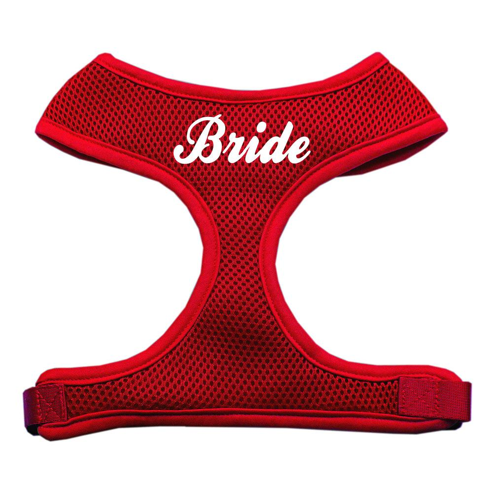 Bride Screen Print Soft Mesh Harness Red Large