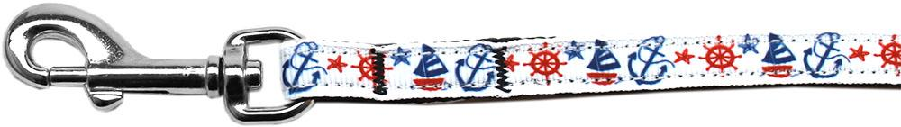 Anchors Away Nylon Ribbon Pet Leash 3/8 inch wide 6Ft Lsh