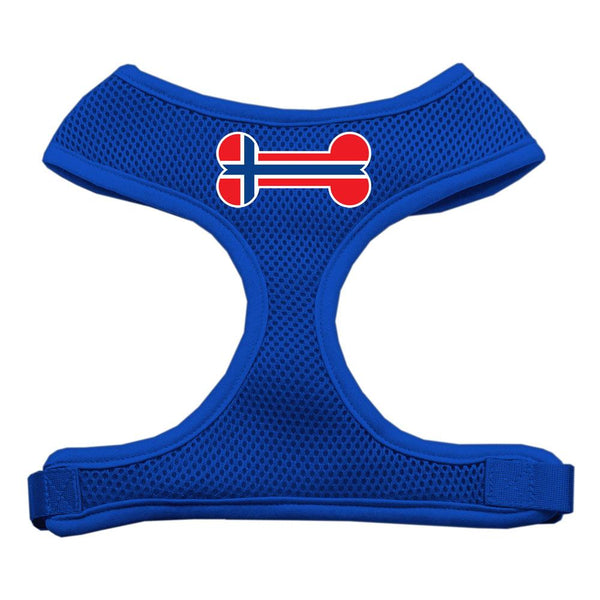 Bone Flag Norway Screen Print Soft Mesh Harness Blue Medium