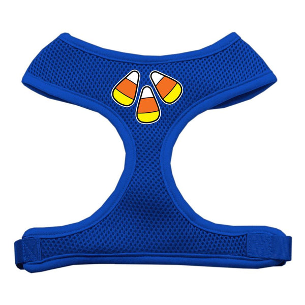 Candy Corn Design Soft Mesh Harnesses Blue Large