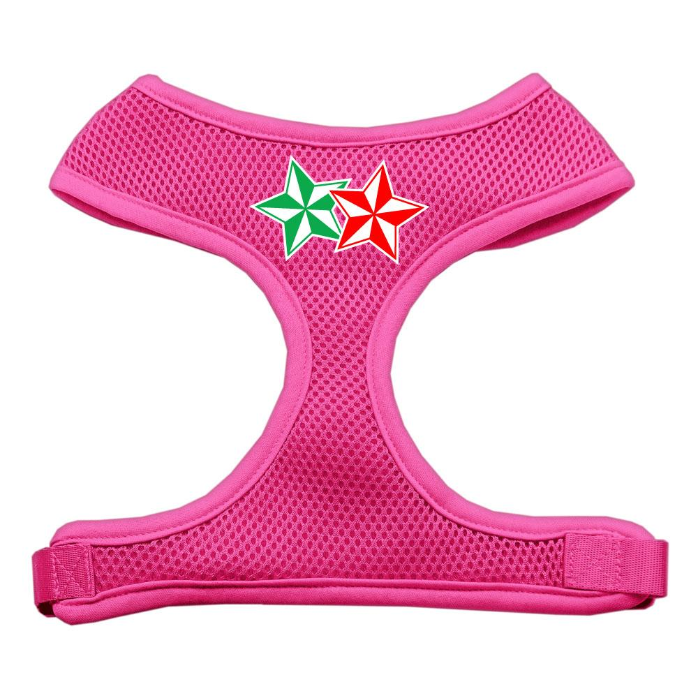 Double Holiday Star Screen Print Mesh Harness Pink Small