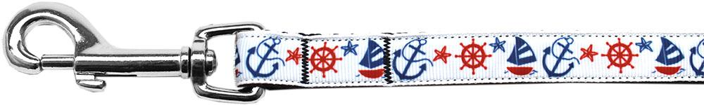 Anchors Away Nylon Ribbon Pet Leash 5/8 inch wide 4Ft Lsh