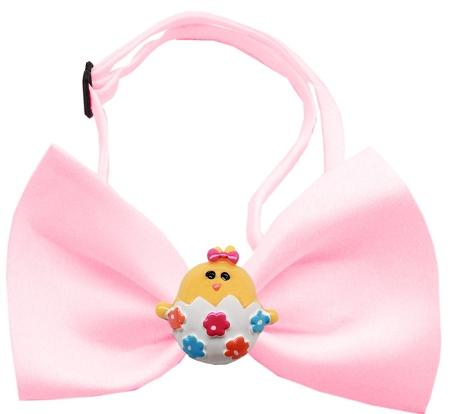 Easter Chick Chipper Light Pink Bow Tie