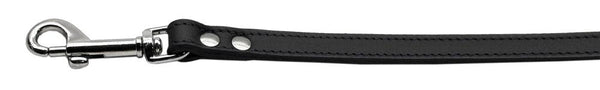 Fashionable Leather Leash Black 3/4'' Wide