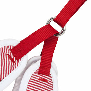 Pet Life ® Luxe 'Spawling' 2-In-1 Mesh Reversed Adjustable Dog Harness-Leash W/ Fashion Bowtie