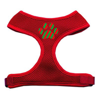 Christmas Paw Screen Print Soft Mesh Harness Red Extra Large