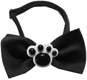 Black Paws Chipper Black Bow Tie