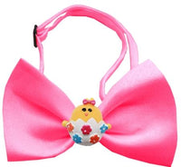 Easter Chick Chipper Hot Pink Bow Tie