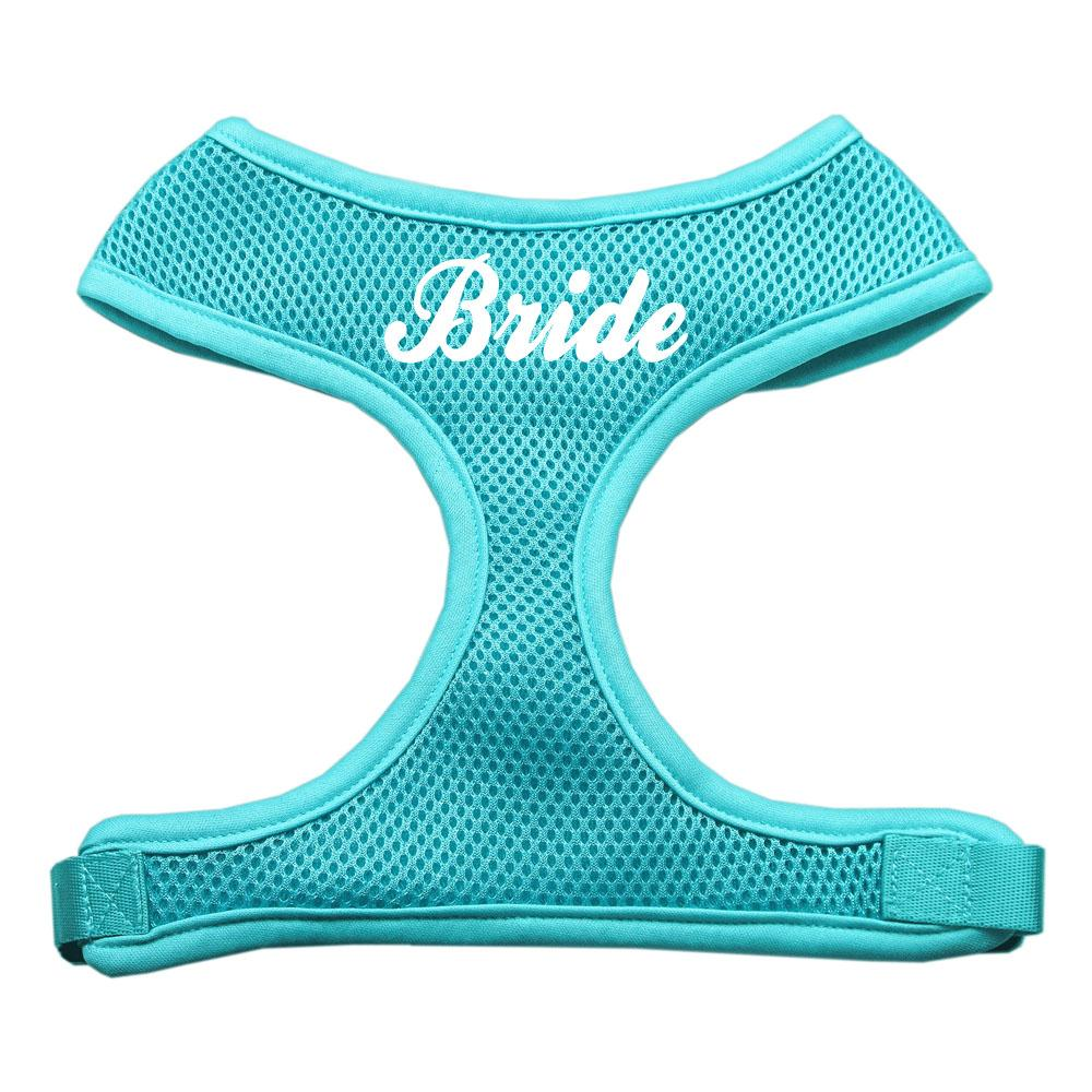 Bride Screen Print Soft Mesh Harness Aqua Medium