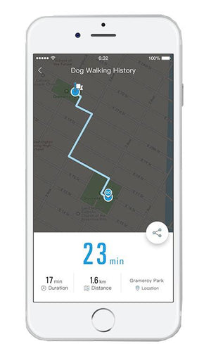 Petkit Go Bluetooth Distance Activity Monitoring And Handle Notification Vibrating Smart Dog Leash