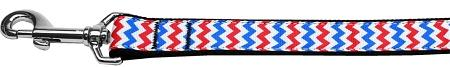 Patriotic Chevrons Nylon Dog Leash 6 Foot