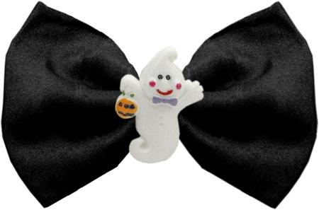 Ghost Chipper Black Pet Bow Tie