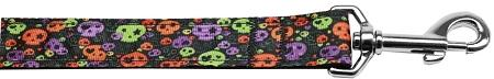Confetti Skulls Nylon Dog Leash 4 Foot