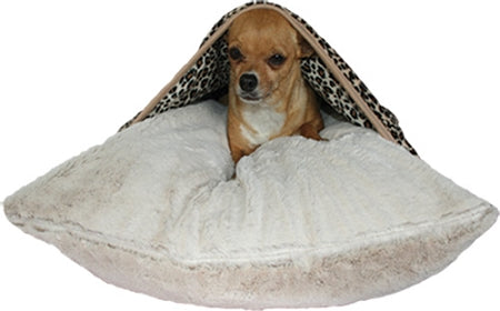 Natural Leopard Pet Pockets Bedding for Pets that Burrow